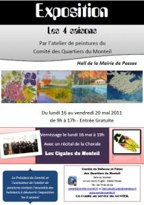 affiche expo peintures mai 2011