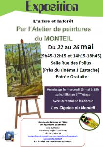 Affiche Expo de peintures mai