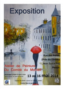 Expo peintures mai 2014 affiche