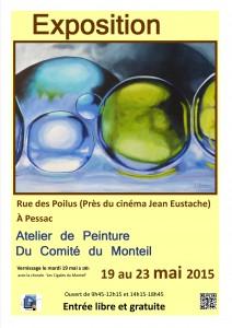 Expo peintures mai 2015 affiche